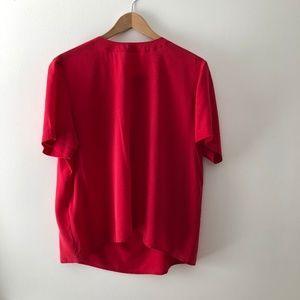 VINTAGE/ oversized boxy silk top